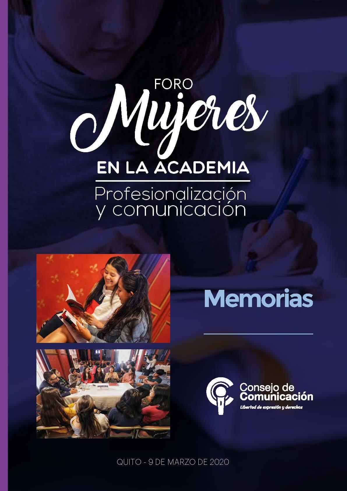 Foro Mujeres en la Academia Profesionalización y comunicación