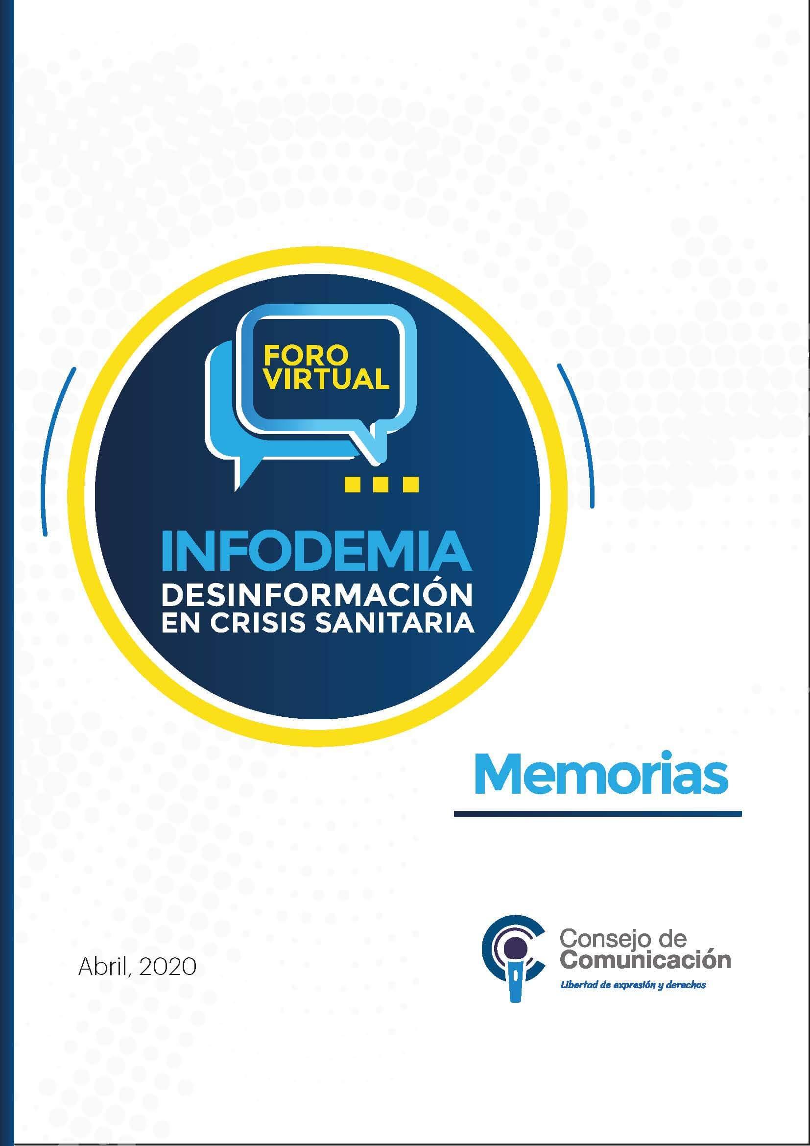 Foro virtual Infodemia desinformación en crisis sanitaria