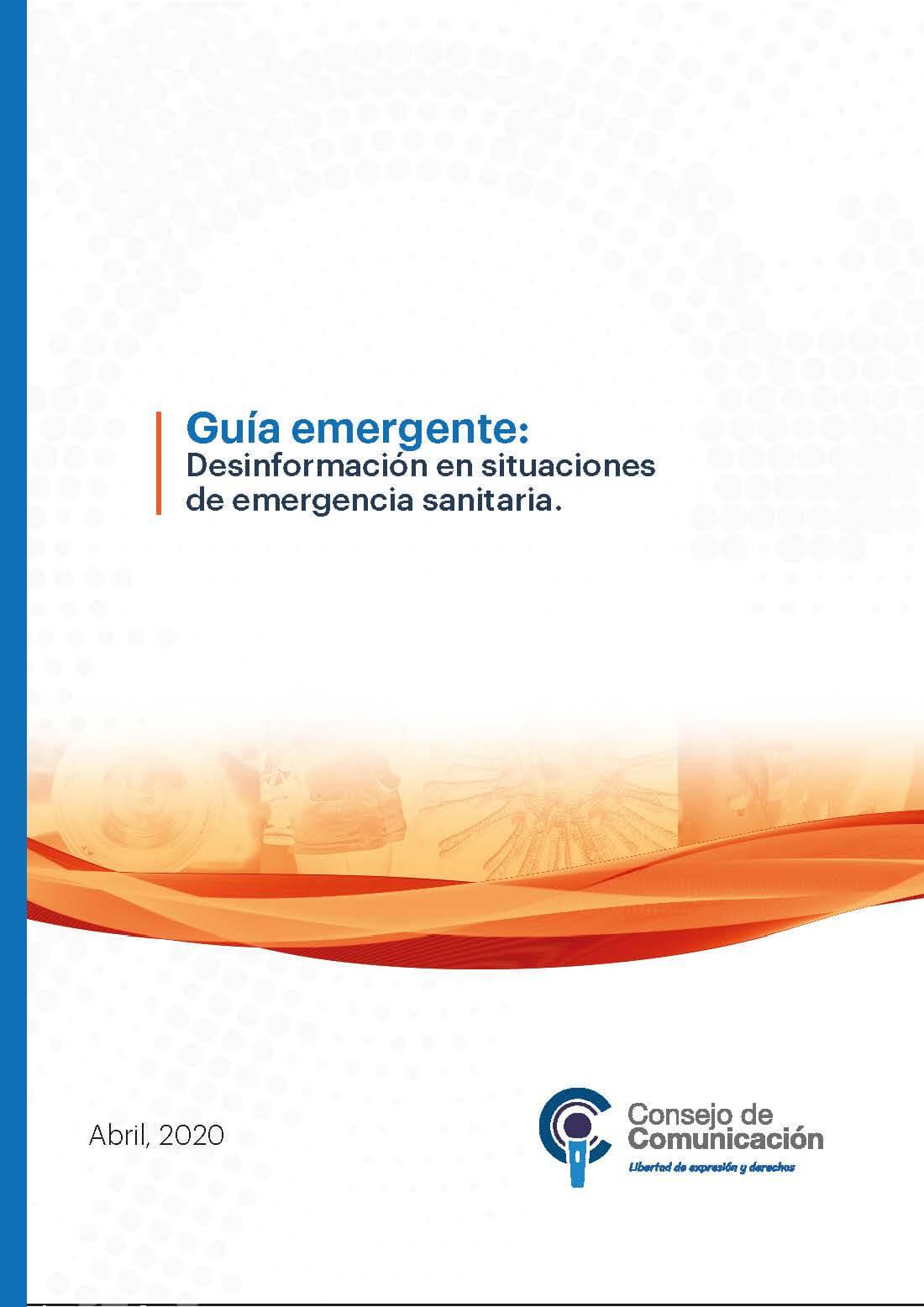 Guía emergente Desinformación en situaciones de emergencia