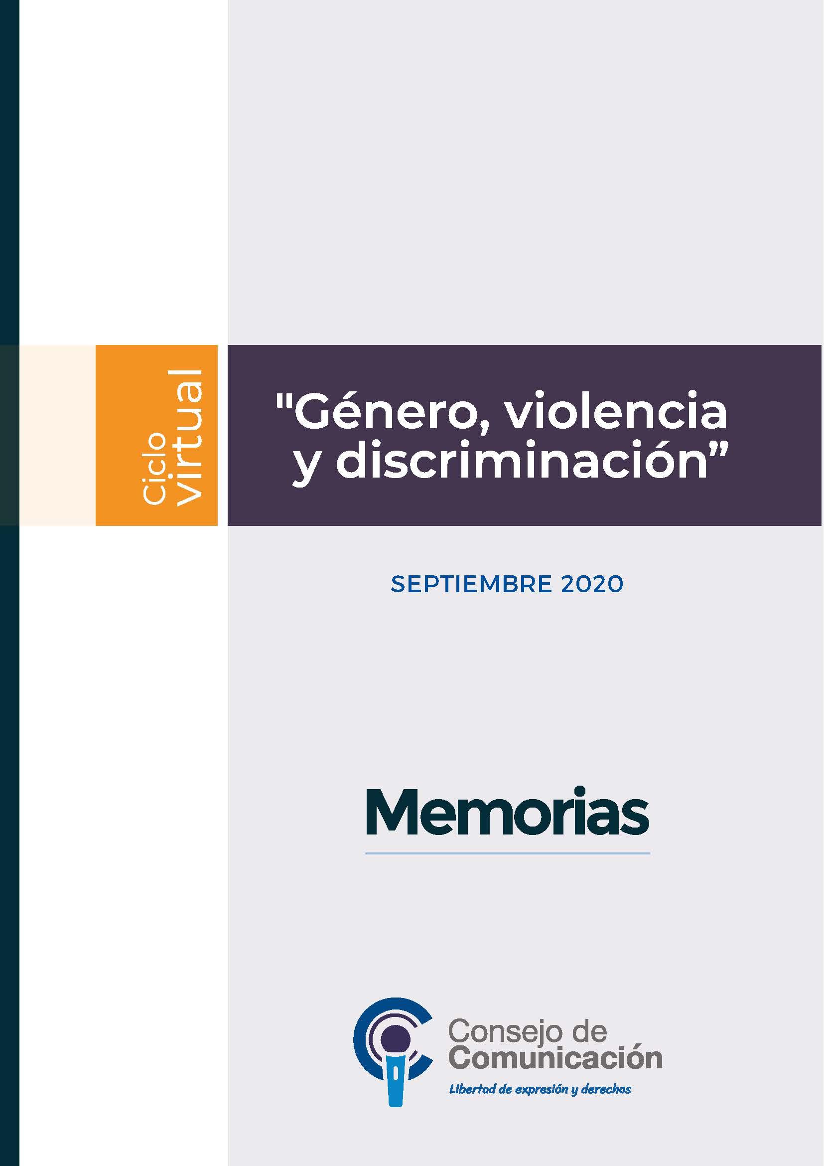 Ciclo Virtual Género, violencia y discriminación