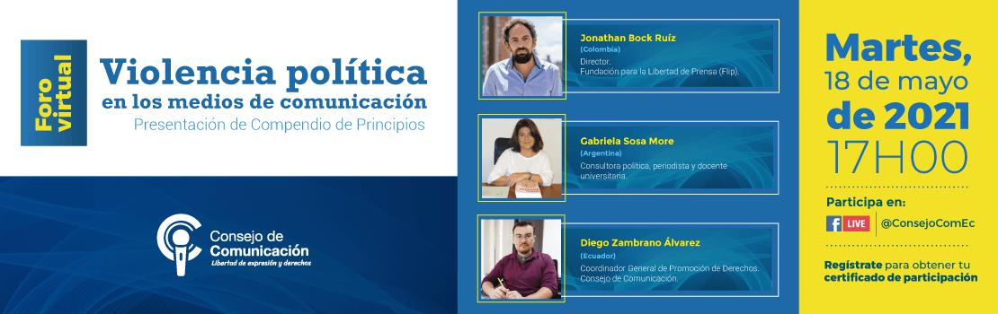 Foro Virtual Violencia política presentación compendio de principios