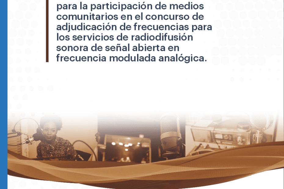 Guía para la participación de medios comunitarios en el concurso de adjudicación de frecuencias