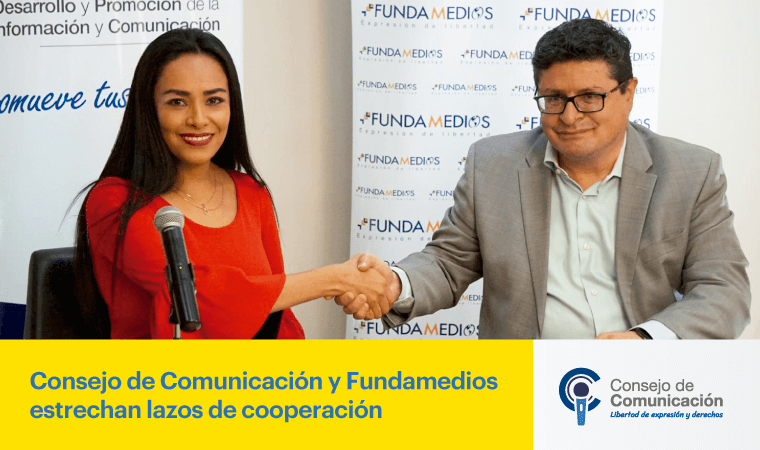 Consejo de Comunicación y Fundamedios estrechan lazos de cooperación