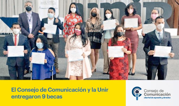 El Consejo de Comunicación y la UNIR entregaron 9 becas