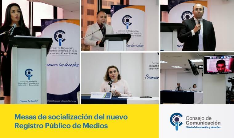 Mesas de socialización del nuevo Registro Público de Medios