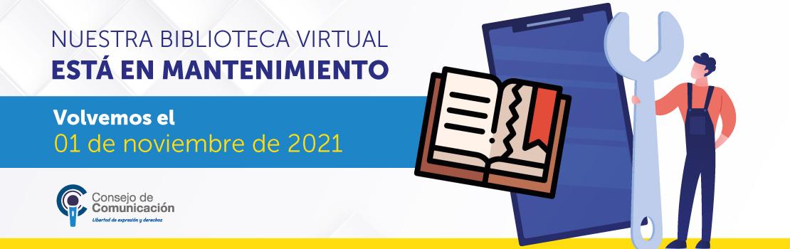 Mantenimiento Biblioteca Virtual